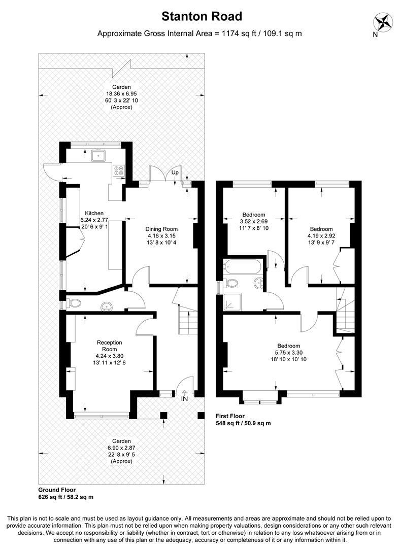 Floorplan for Stanton Road, Wimbledon
